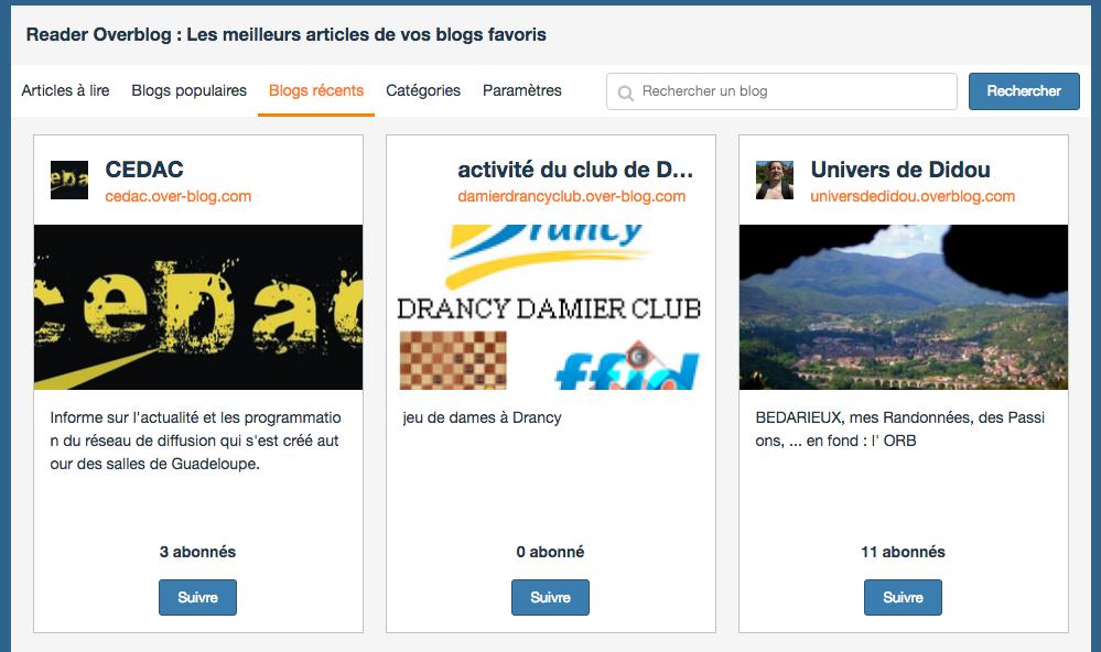 Découvrez les derniers blogs créés et suivez-les pour lire leurs tout premiers articles !