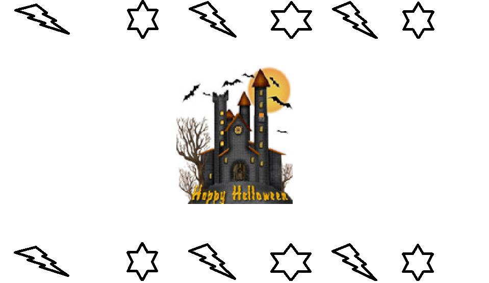 Biglietti e cornicette per Halloween da colorare