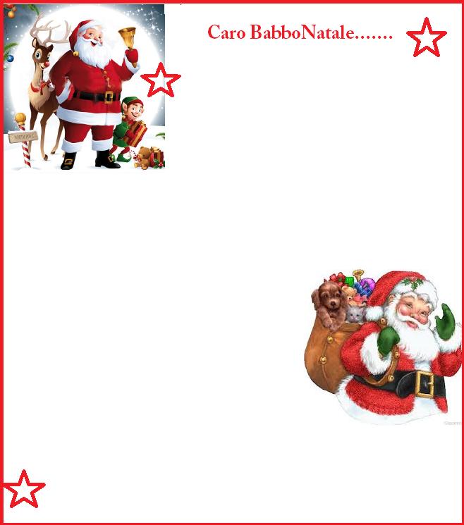 Letterine a Babbo Natale 5 modelli diversi