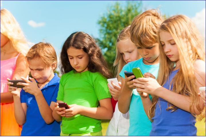 Bambini e ragazzi effetti dei cellulari
