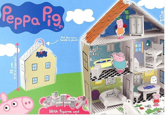Peppa pig la casa da colorare