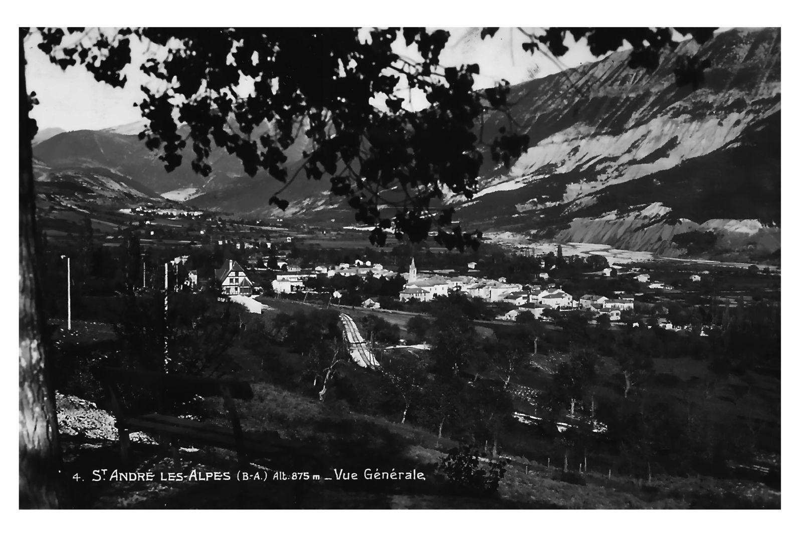 Restauration  de photos anciennes Annot , Thorame Gare , St Julien du Verdon avec les partage de Thomas , St André les Alpes
