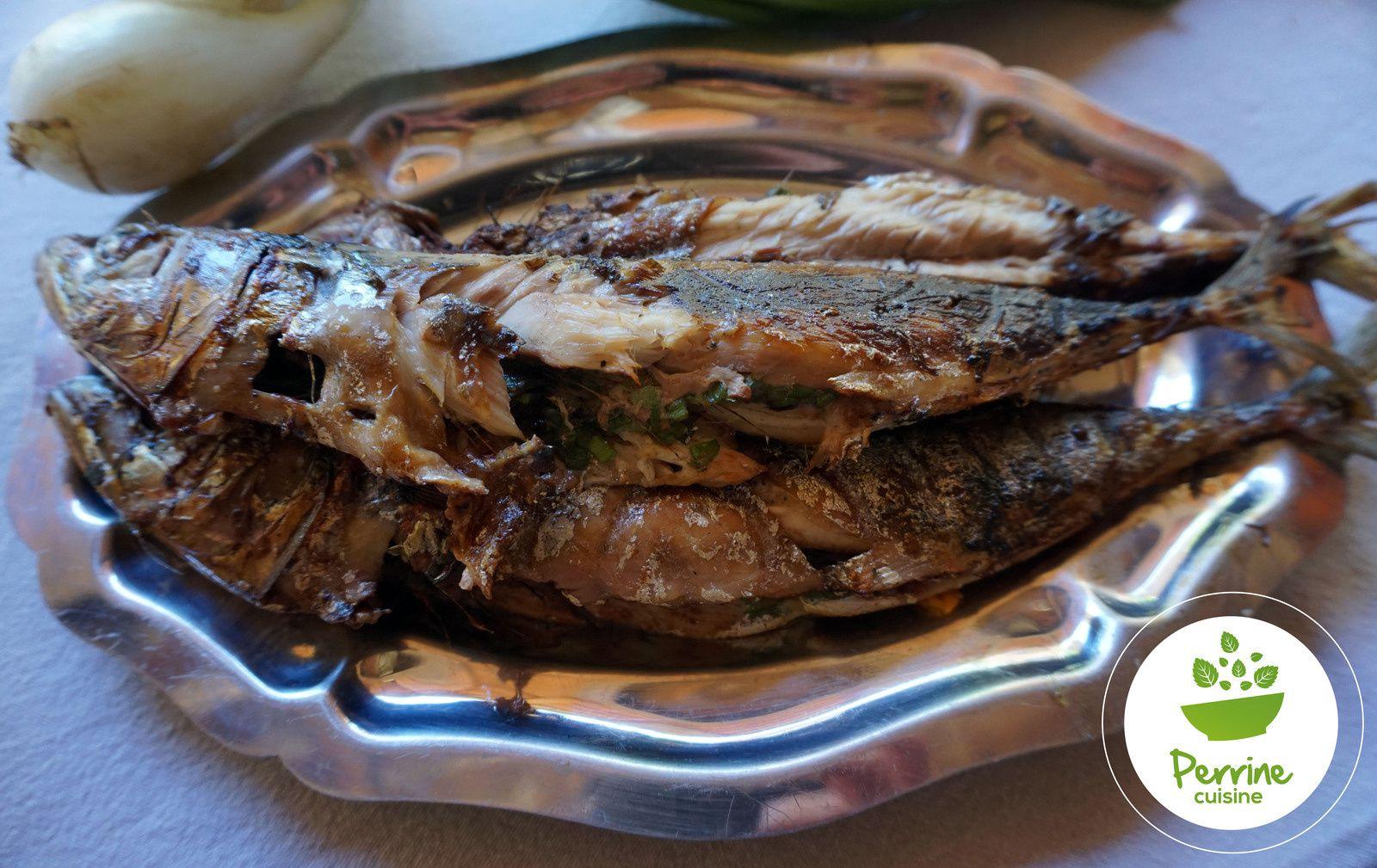Maquereaux grillés et salade de pommes de terre aux oignons doux des Cévennes