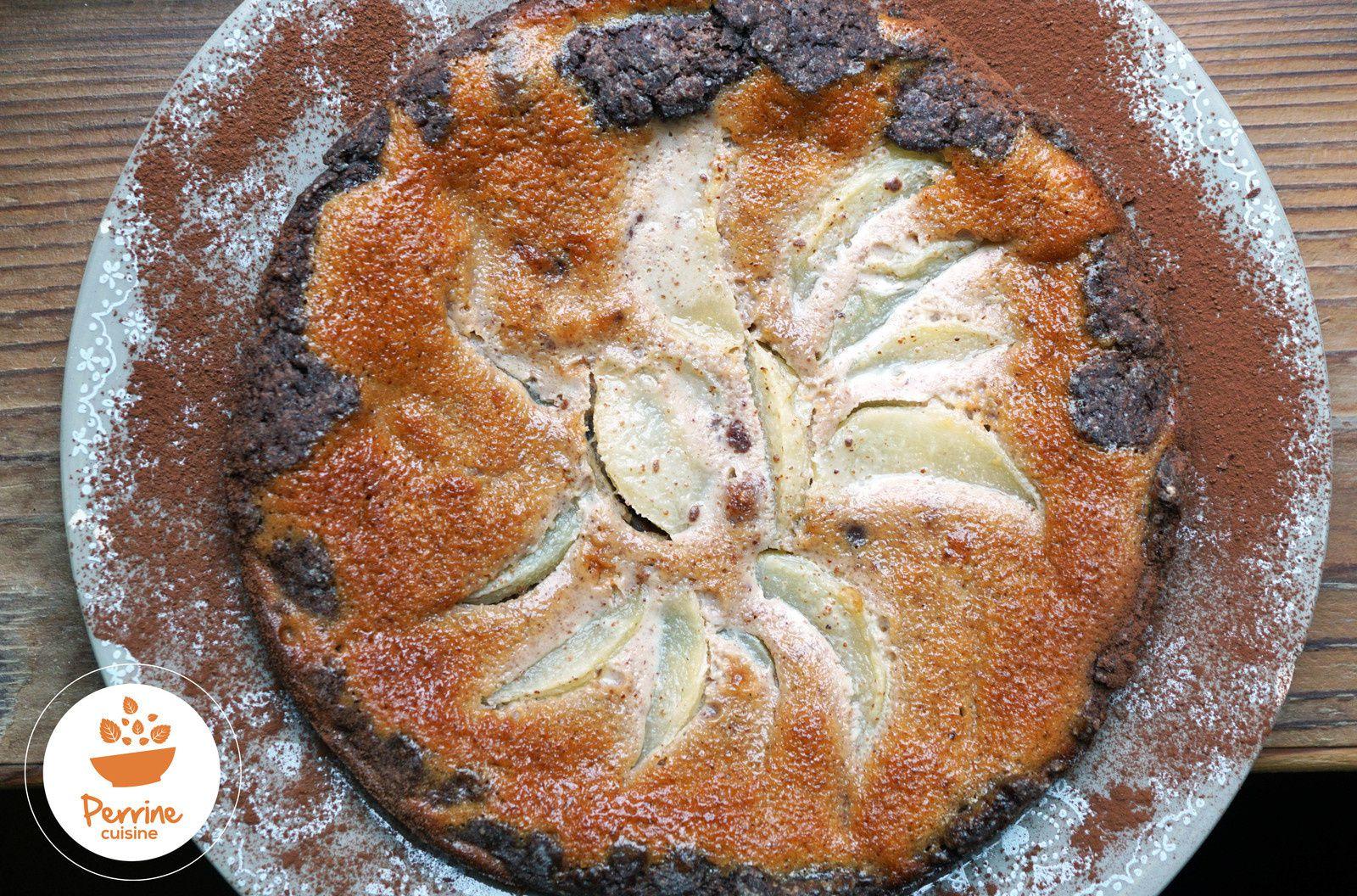 Tarte bourdaloue purée d'amandes Perrine Cuisine