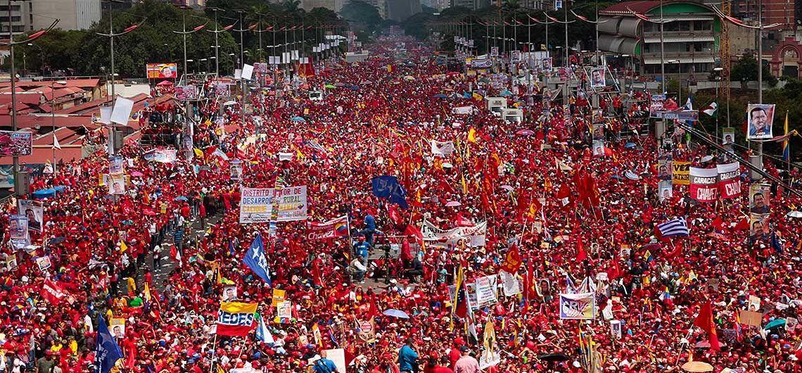 Manifestation en faveur de Maduro