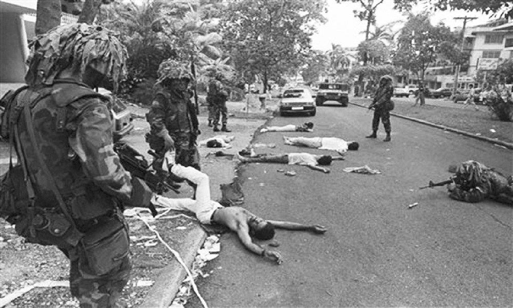 L'invasion du Panama par les Yankees en 1989 a été faite sous les yeux de l'OEA. Photo prise de contrainjerencia.com
