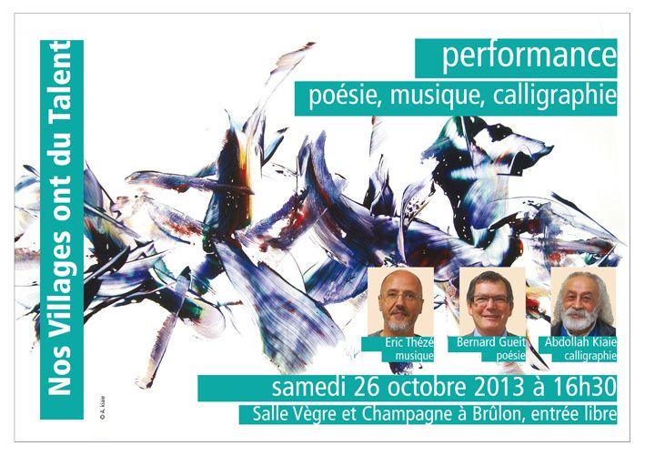 Performance poésie, musique, calligraphie