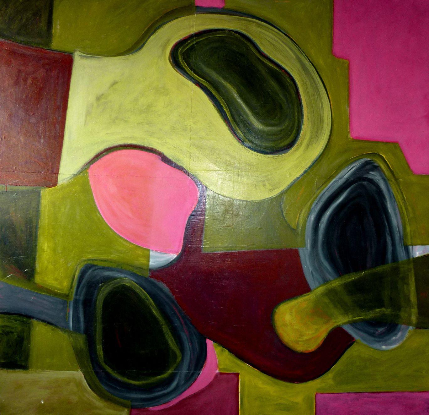 Enclave II, huile sur bois, 180 x 180cm, 2011