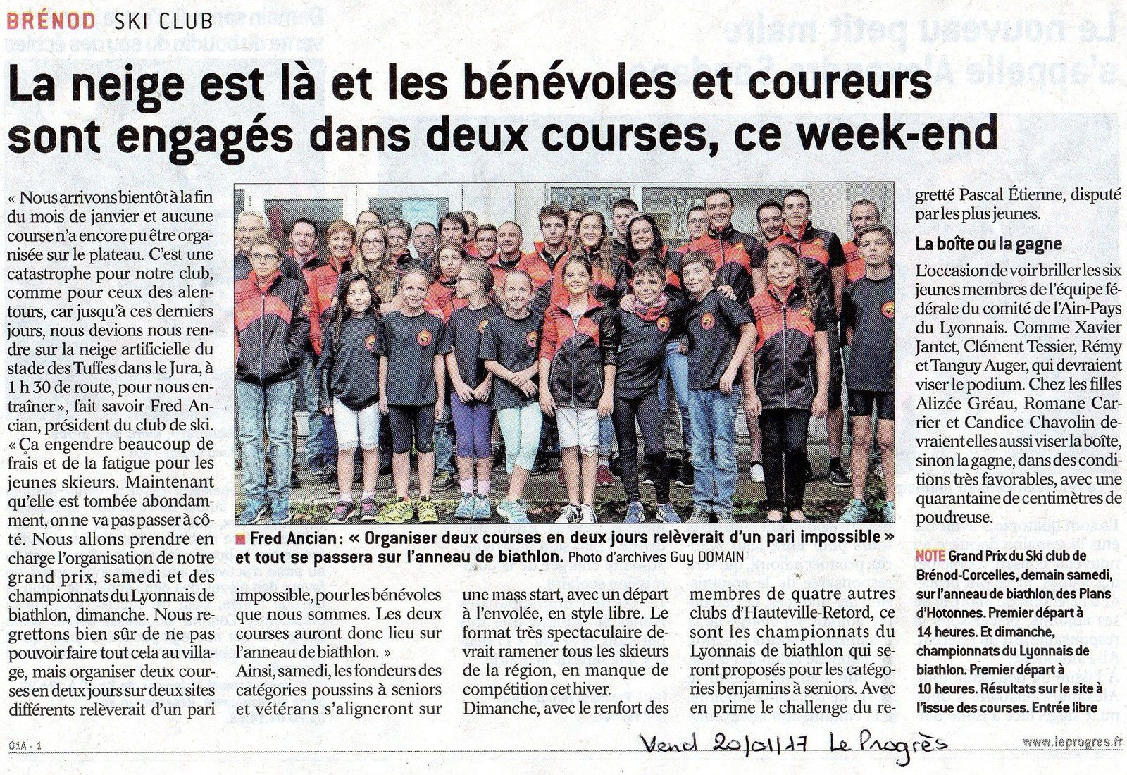 Articles du 20 janvier... Courses du week-end.