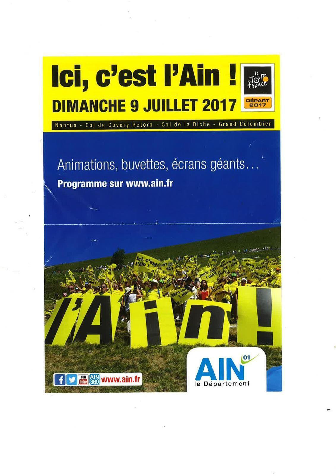 Passage du Tour de France, le 09 juillet à Cuvéry.