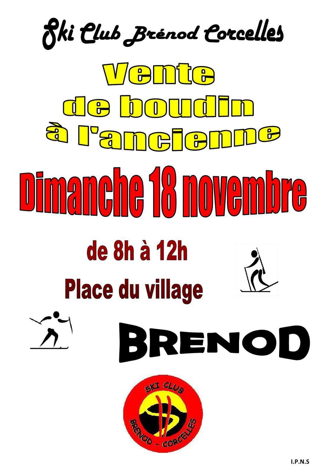 Boudin du SCBC - Dimanche 18 novembre 2018.