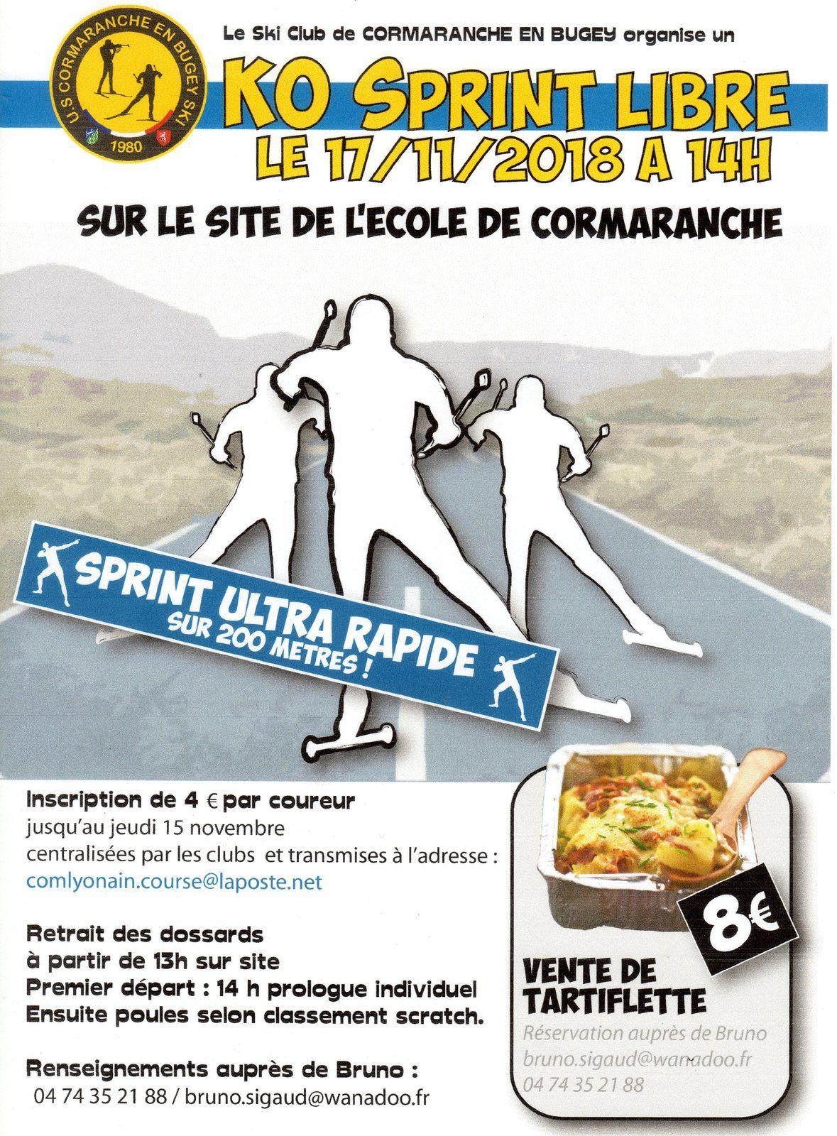 KO sprint Cormaranche, 17 novembre 2018.