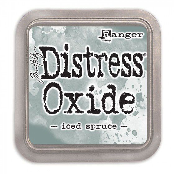 distress oxide iced spruce