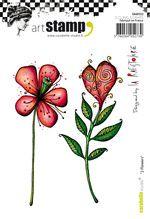 tampon caoutchouc 2 flowers, carabelle, scrap-plaisir, créaplaisir