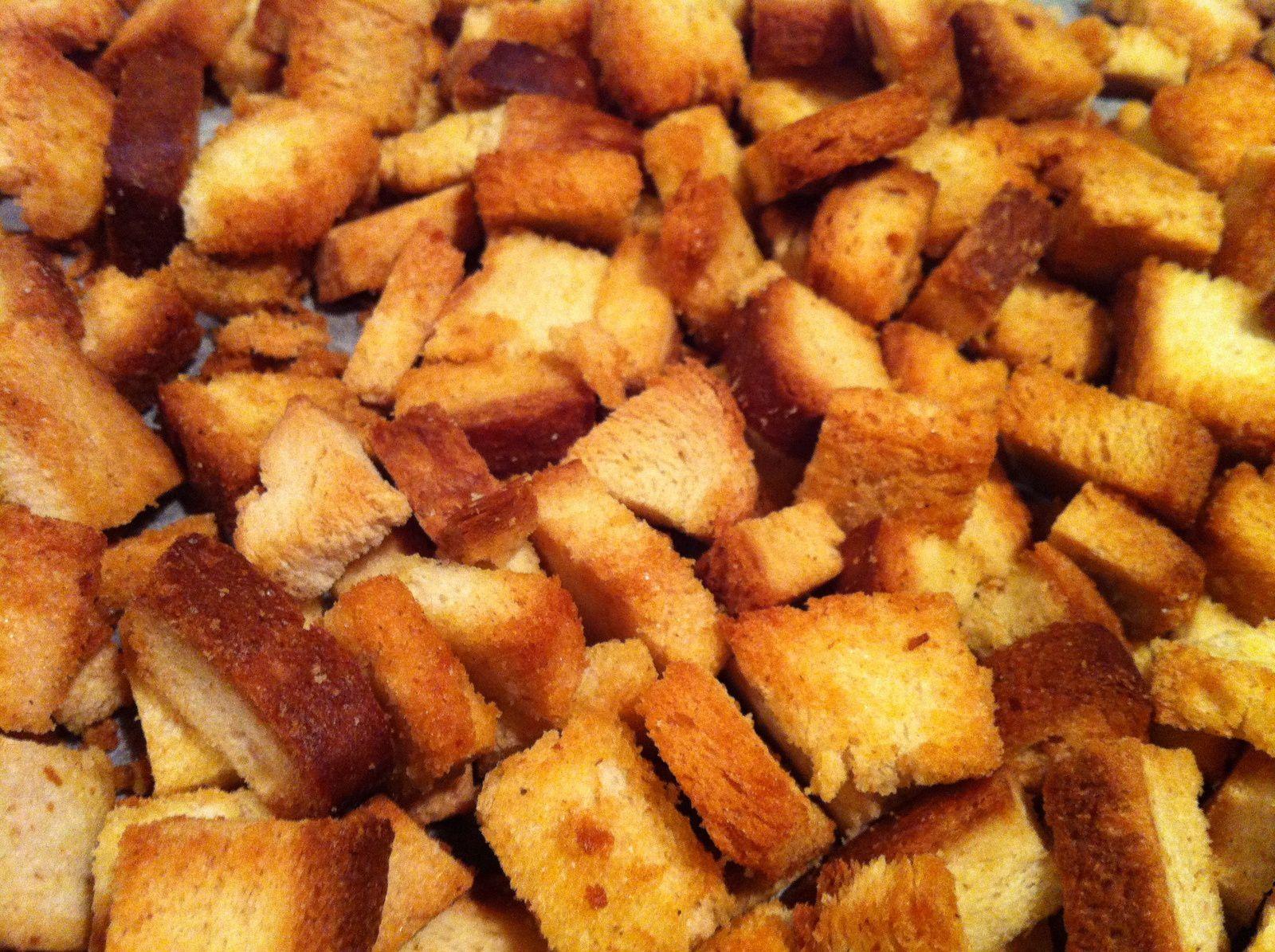 Comment faire des croutons de pain maison ventana blog - Comment faire griller du pain au four ...