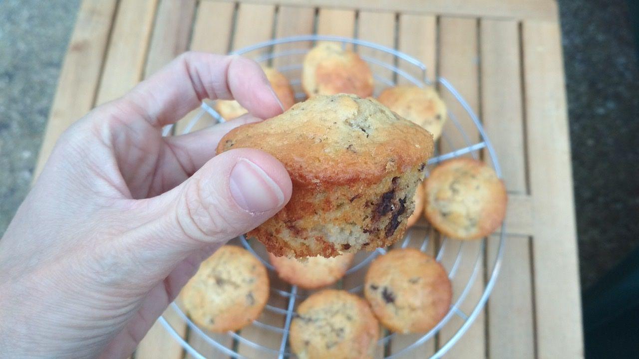 Muffins poires pépites de chocolat