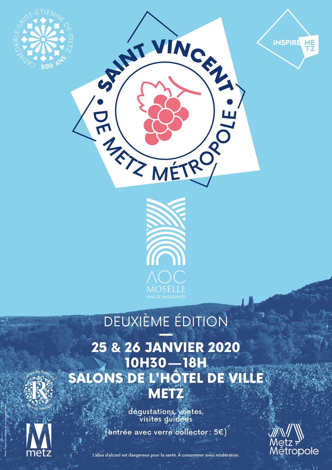 Metz 2EME EDITION DE LA SAINT-VINCENT DE METZ METROPOLE les 25 et 26 janvier 2020