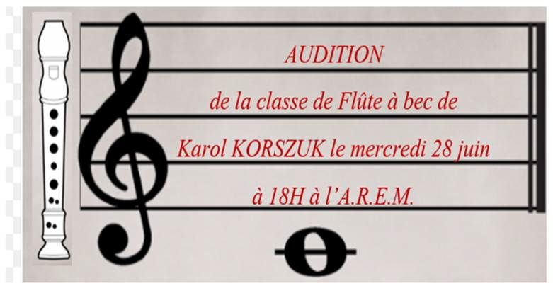 AUDITIONS FLUTE A BEC , PERCUSSION