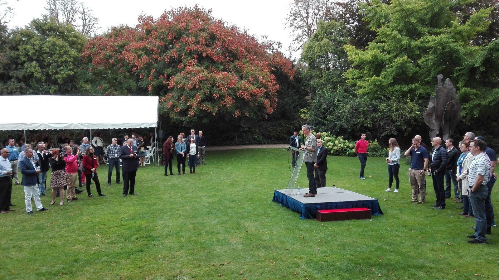 Réception de rentrée à l'ambassade des Etats-Unis