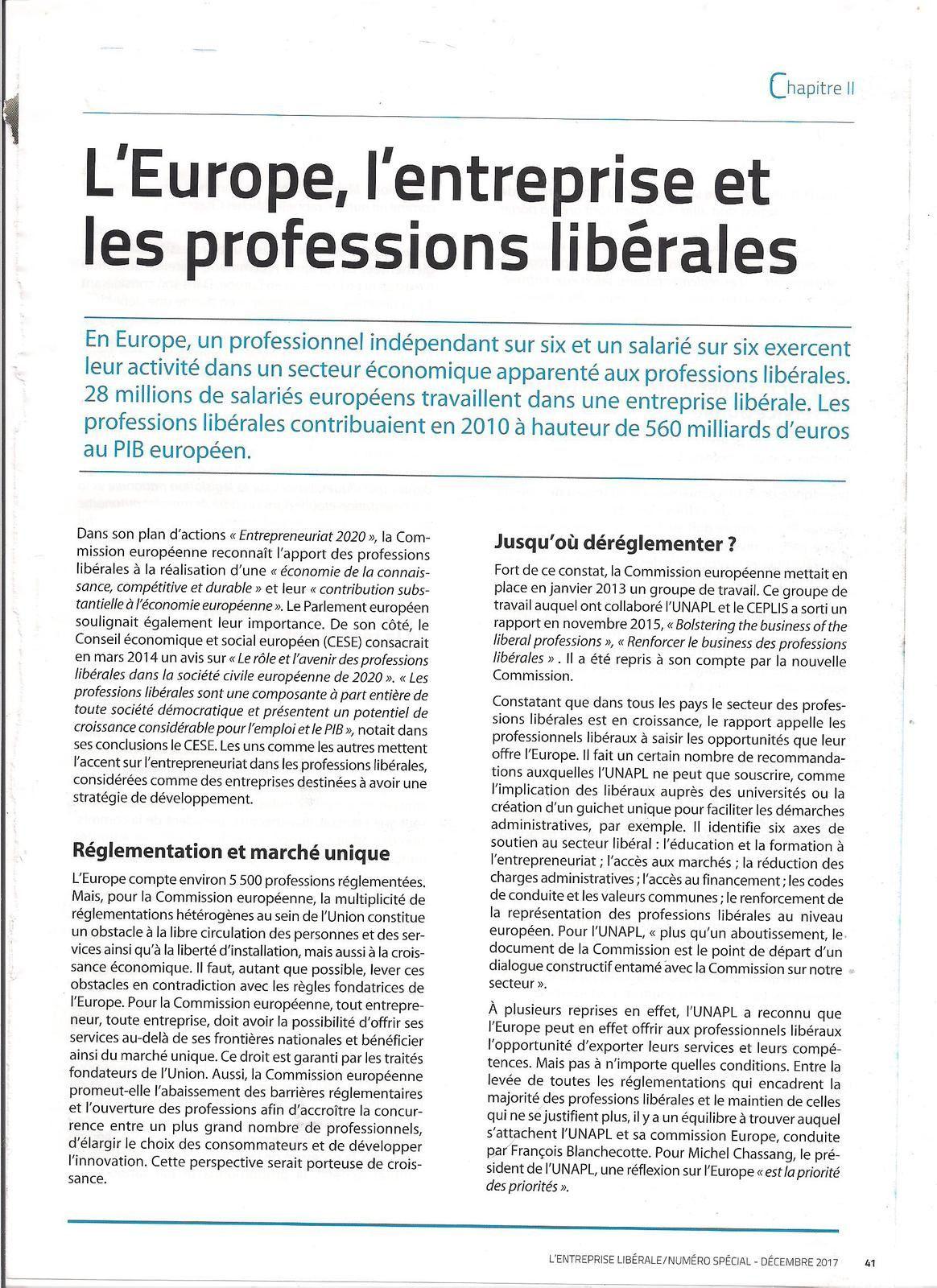 Intervention de François BLANCHCOTTE, Pdt de la commission Europe de l'UNAPL