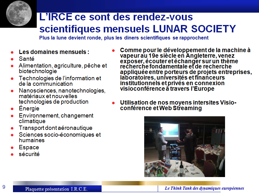 VALORISATION TECHNOLOGIQUE EUROPEENNE - LUNAR SOCIETY
