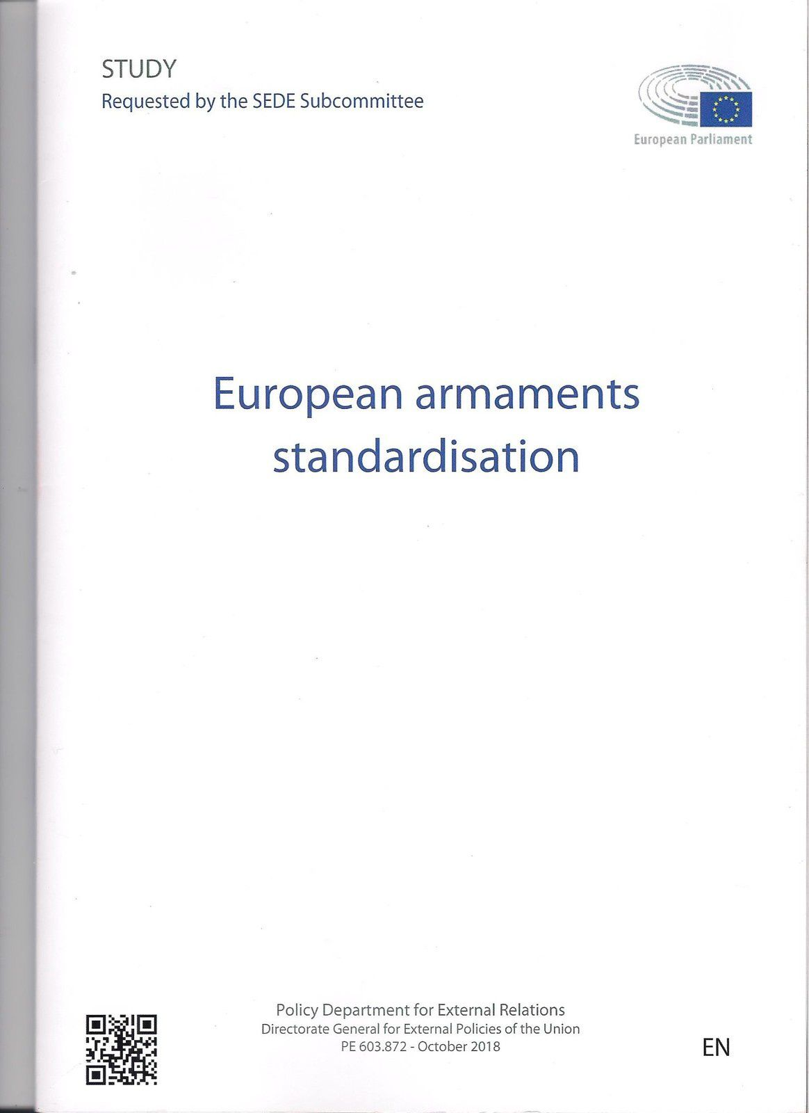 European armaments standardisation ET The Extra-EU Defence Exports' Effects on European Armaments Cooperation