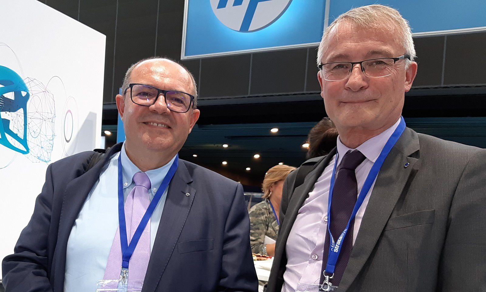 de g à d : Philippe VANNEROT, membre du Comité scientifique de l'I.R.C.E. et François CHARLES, Président