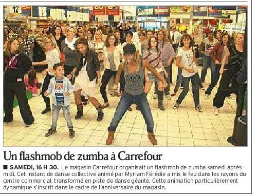 Flashmob Zumba à Carrefour Annecy octobre 2012