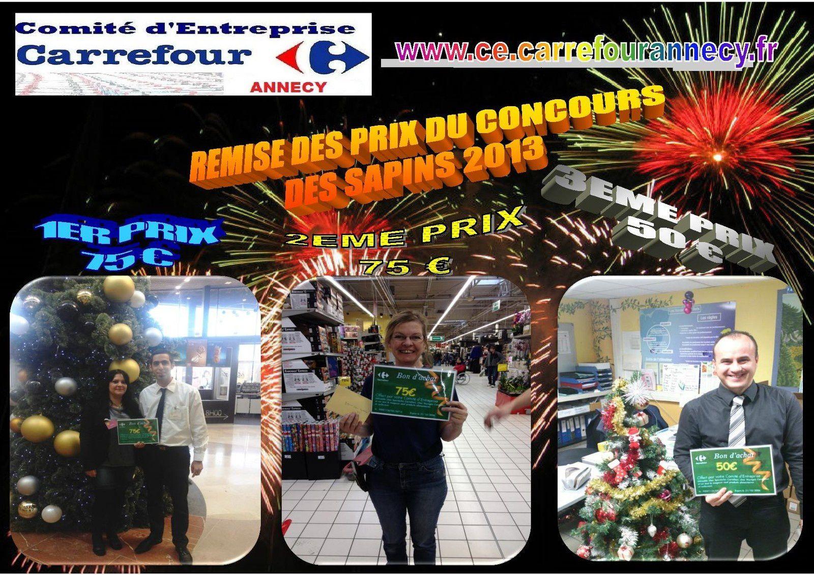 REMISE DES PRIX DU CONCOURS DES SAPINS DE NOEL 2013