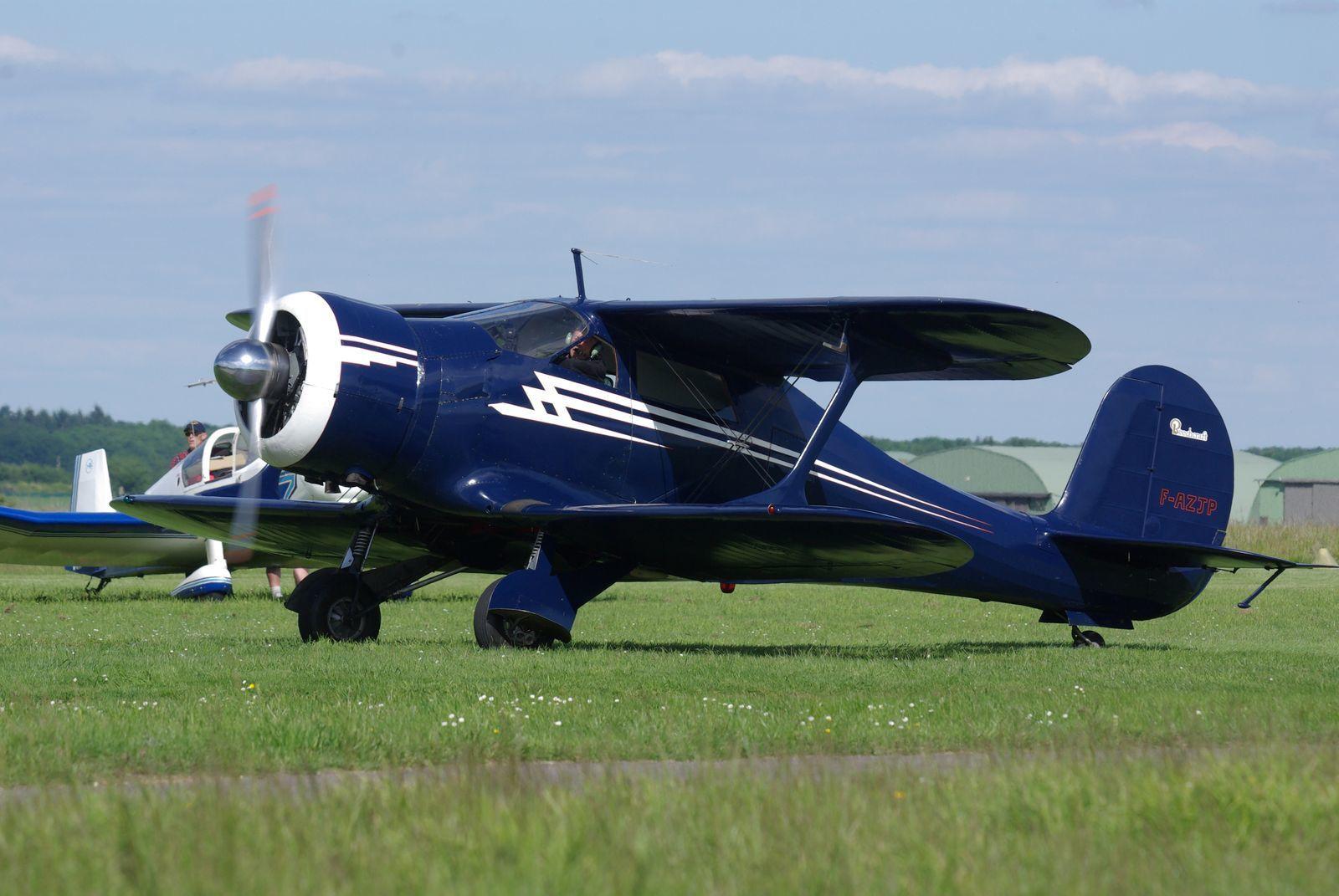 De même pour le Beech 17 Staggerwing F-AZJP ici à Saint André de l'Eure.