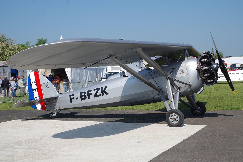 Visiteur rare le Morane Saunier MS-317 F-BFZK de Saint Dizier Aéro Rétro.