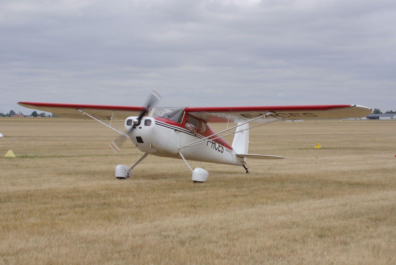 Le Cessna 120 F-HCES de 1947.