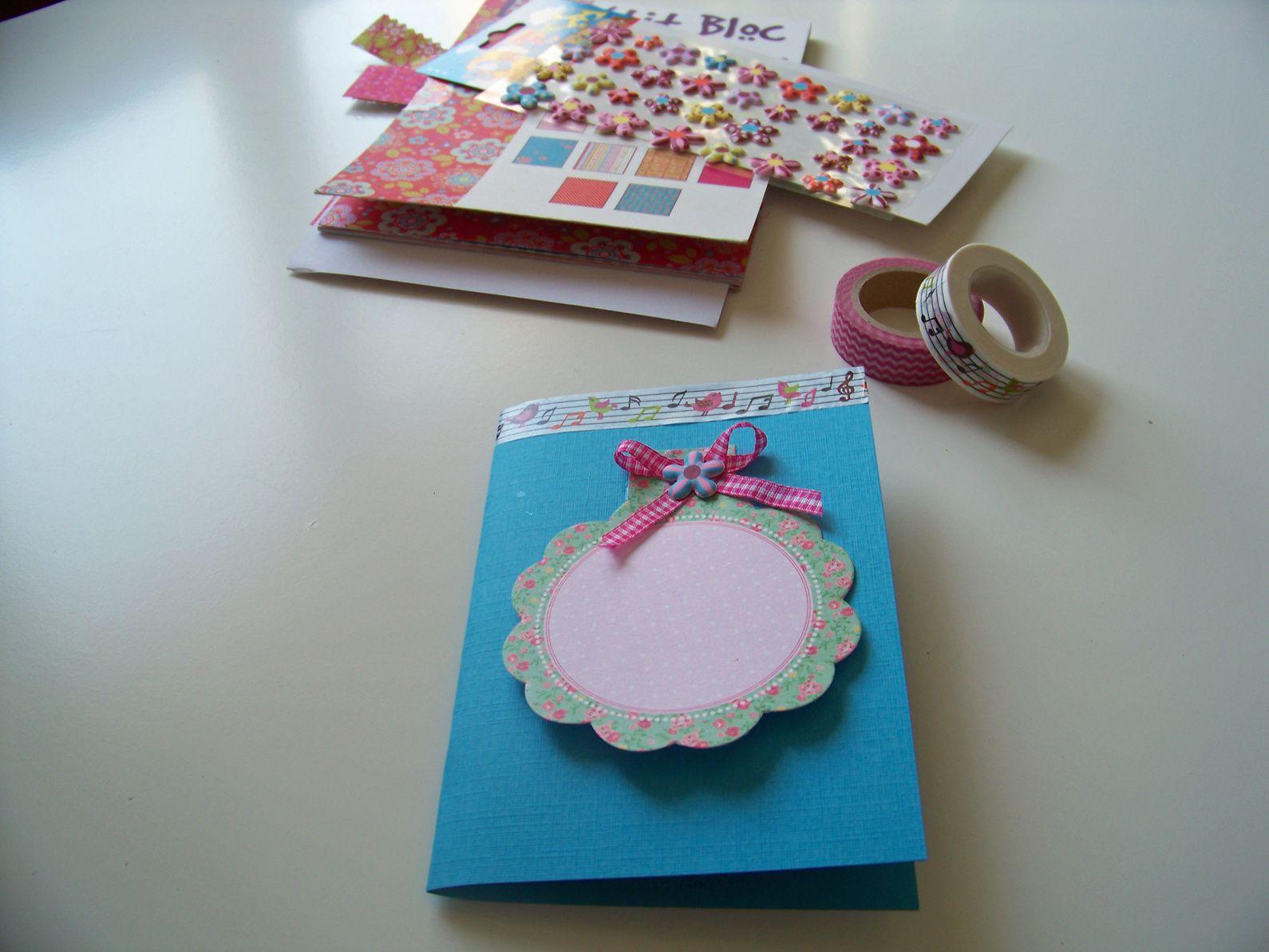 Carte d'anniversaire DIY !!!