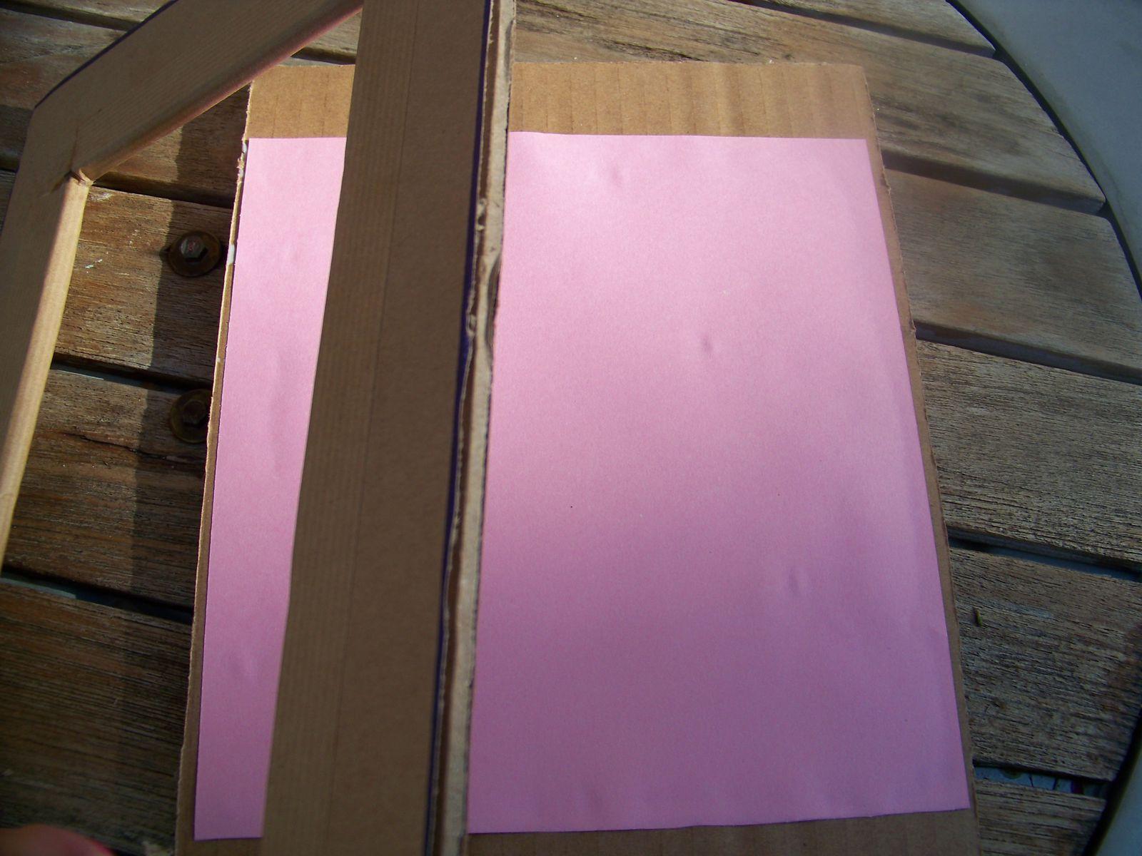 Cadre en carton coloré !