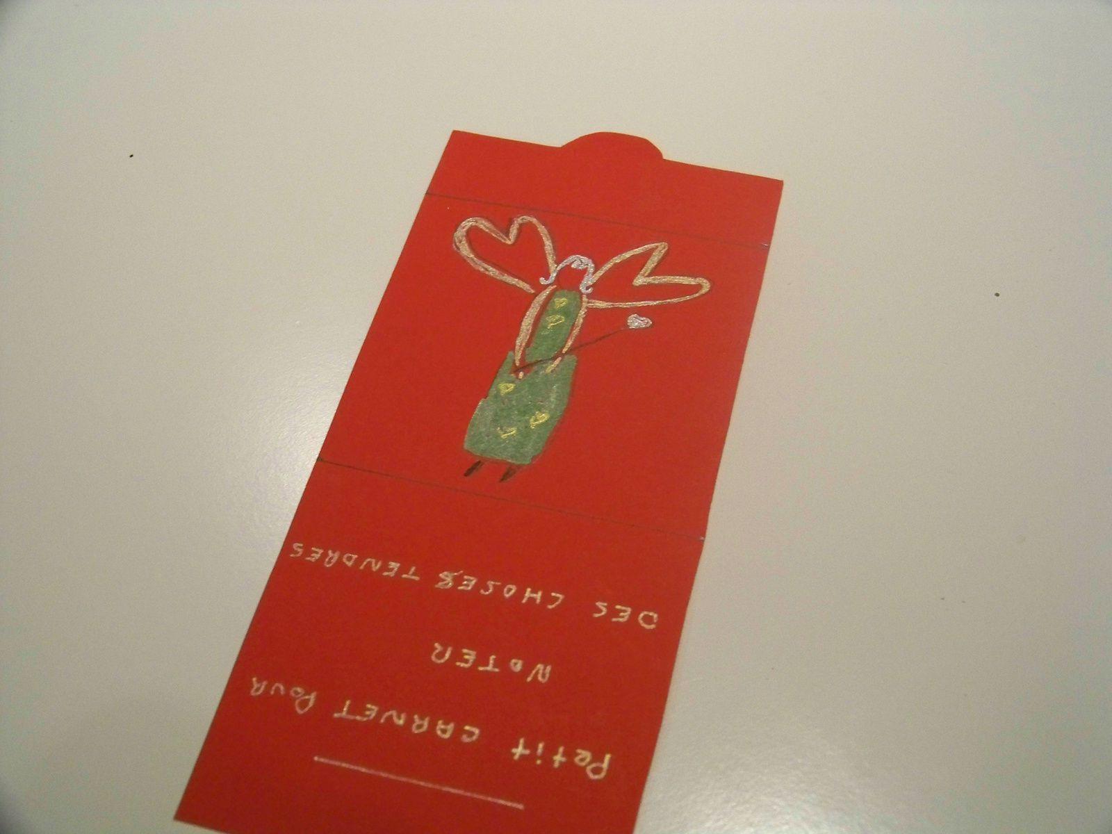 Un carnet à mots tendres pour la ST valentin !