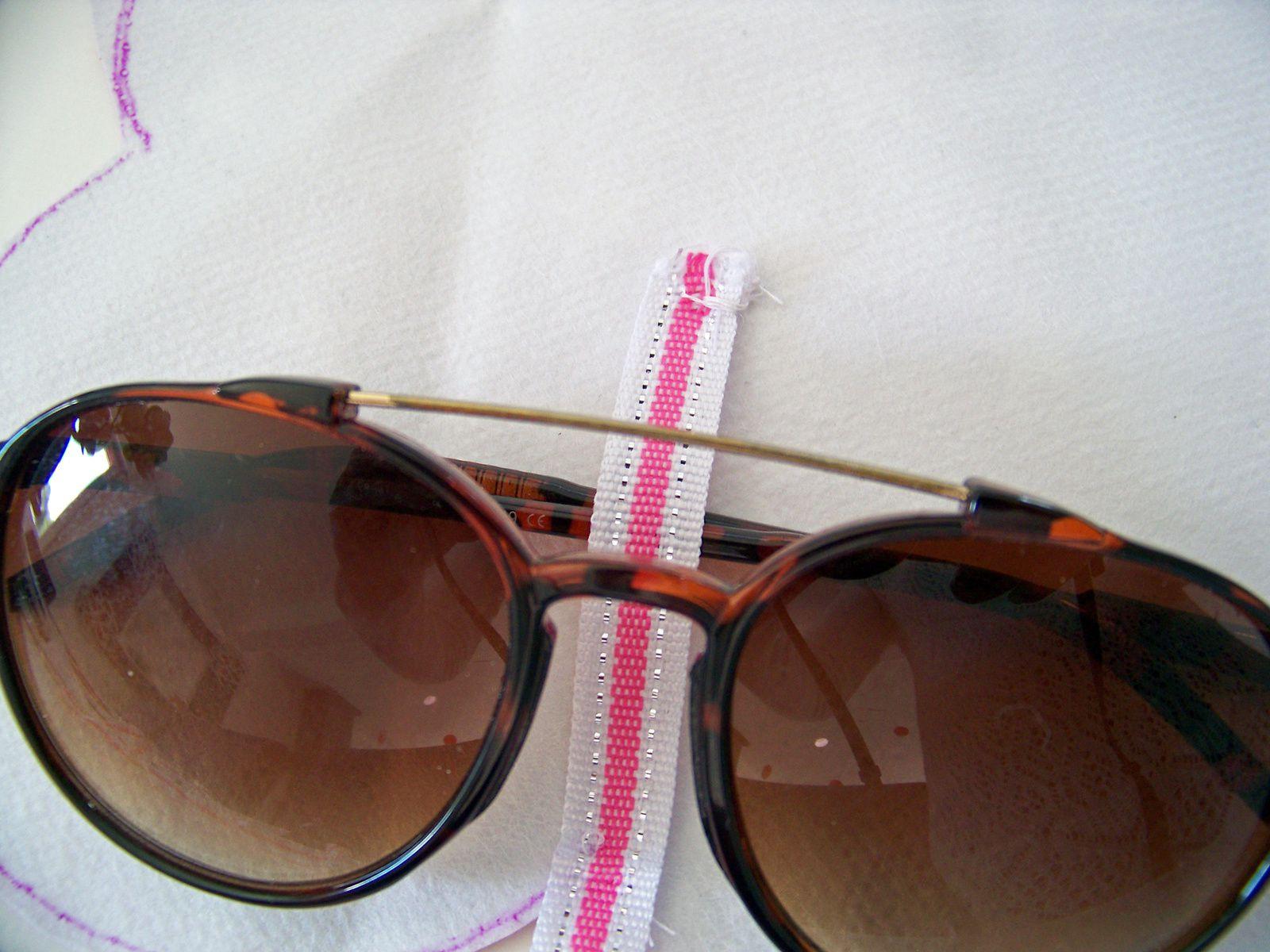 DIY super facile sans couture,protection lunettes de soleil