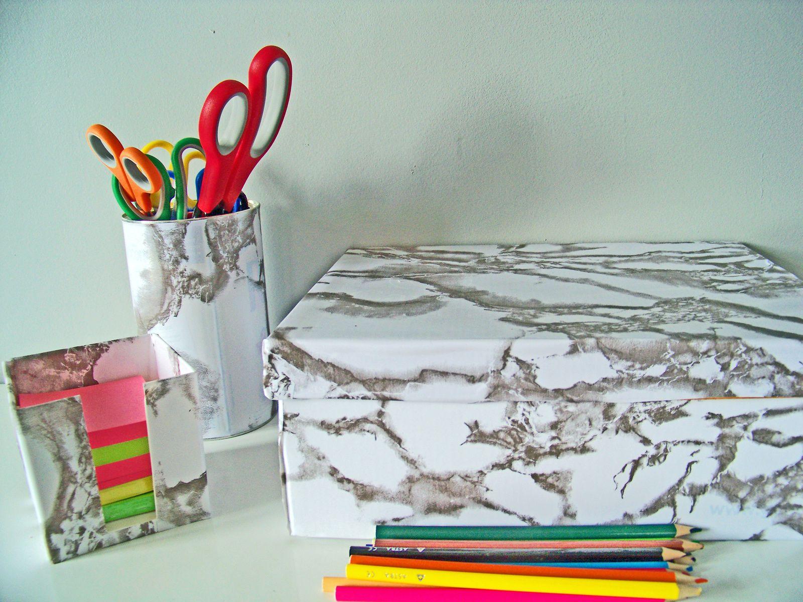 Le DIY: tendance marbre !!