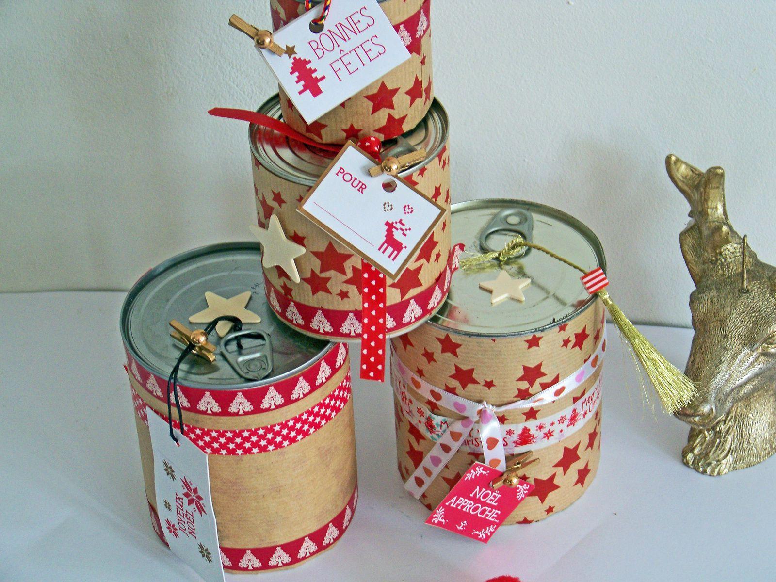 Les conserves recyclées en boîtes  cadeaux !