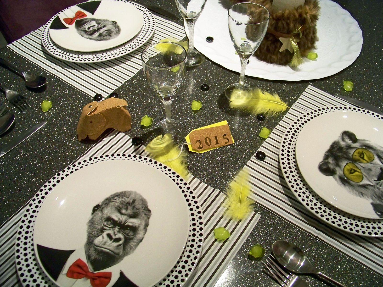 Une ménagerie dans les assiettes