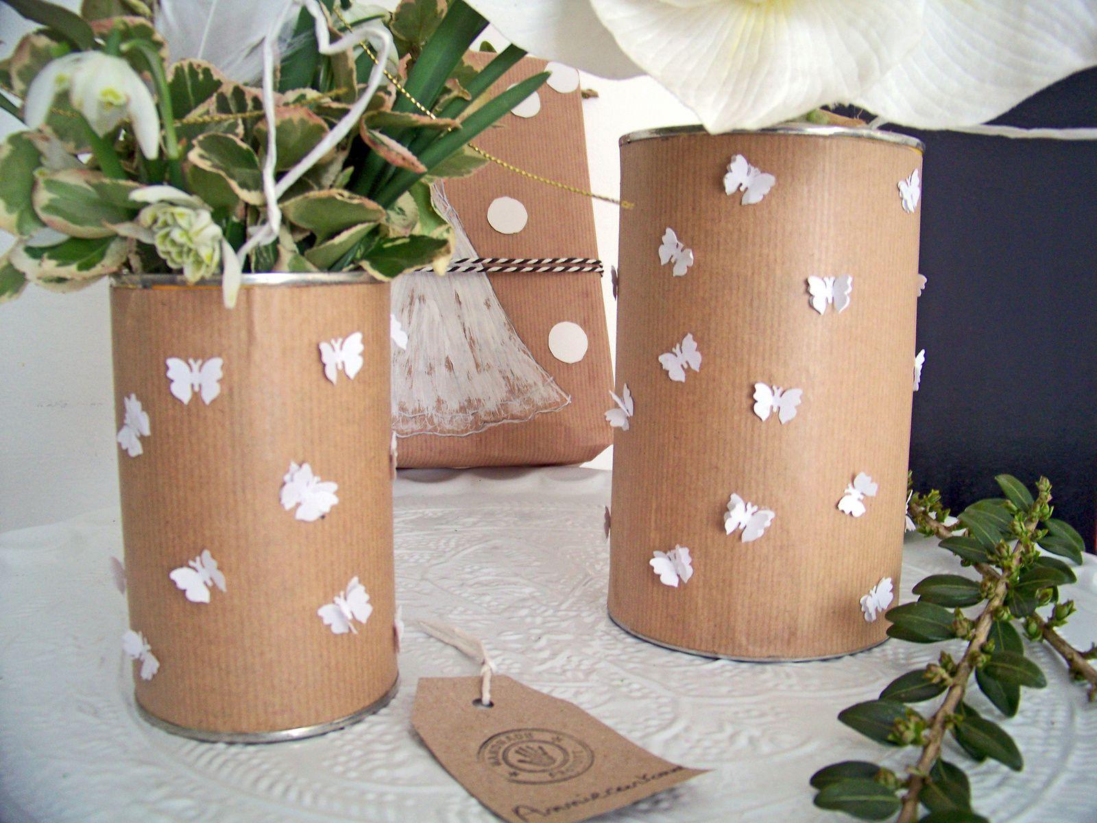 DIY :Envolée de papillon pour vases champêtre