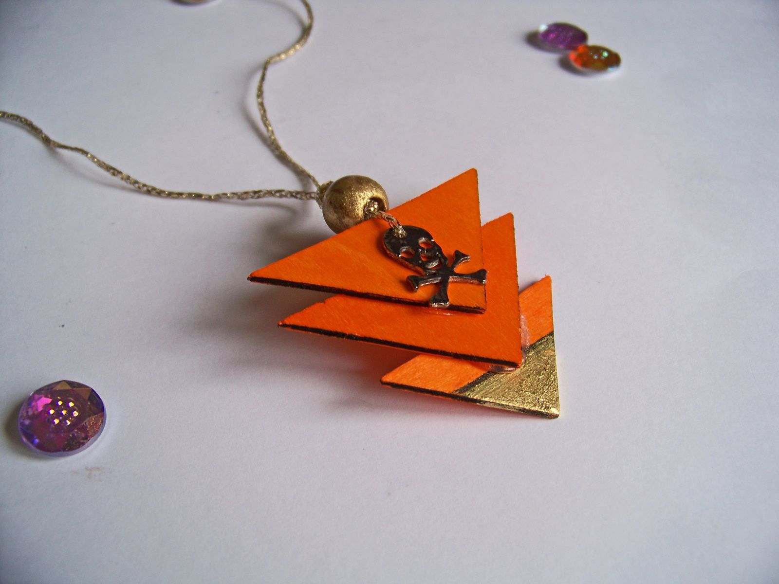 Collier géométrique en bois : DIY