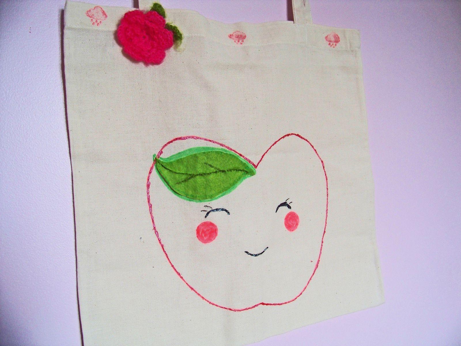 Le tote bag pomme : un DIY Kawaii