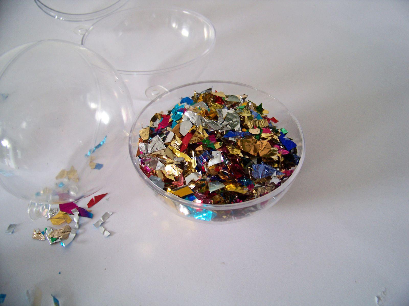Les boules à confettis !