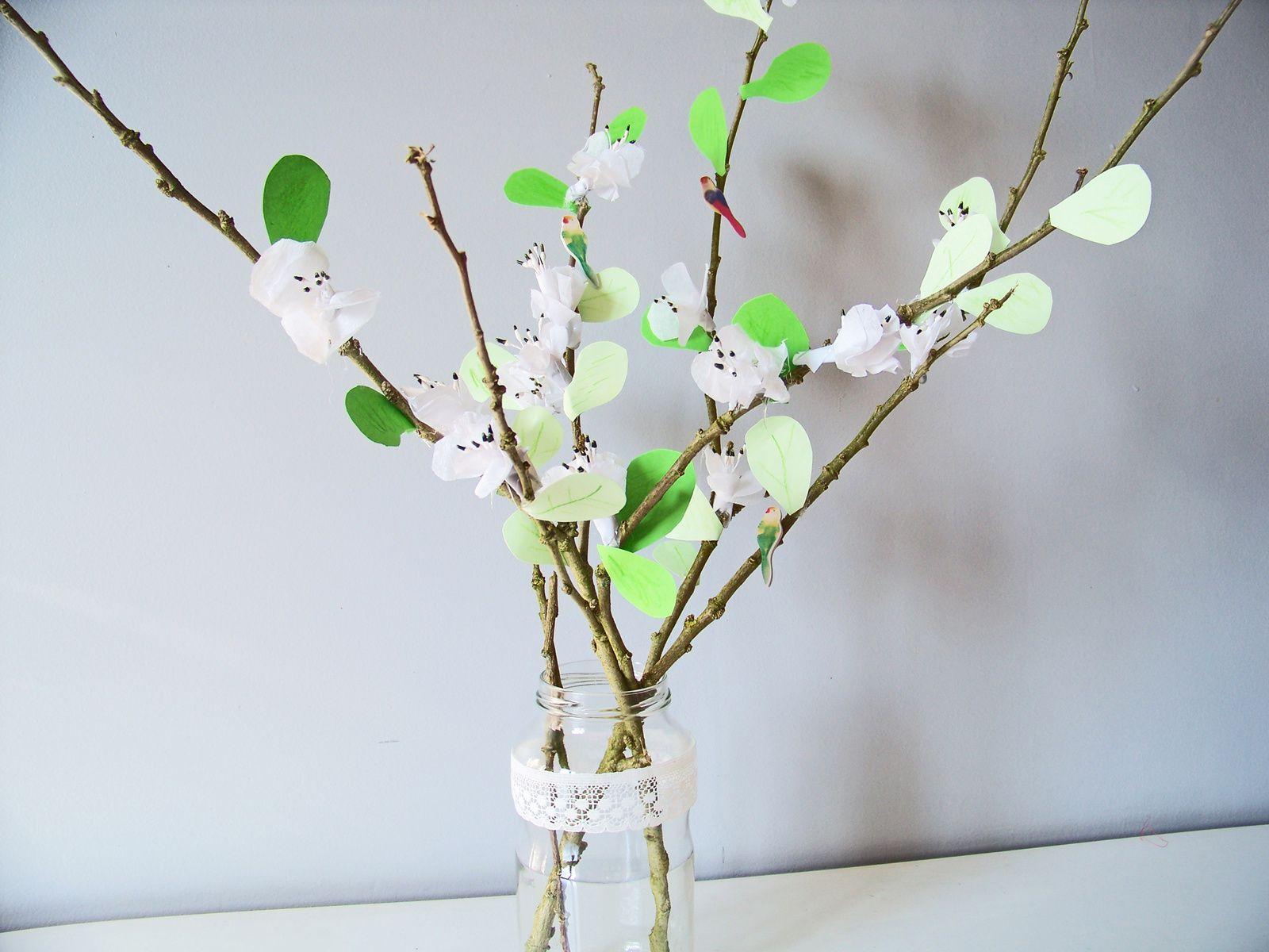 DIY : Les fleurs de cerisier en papier