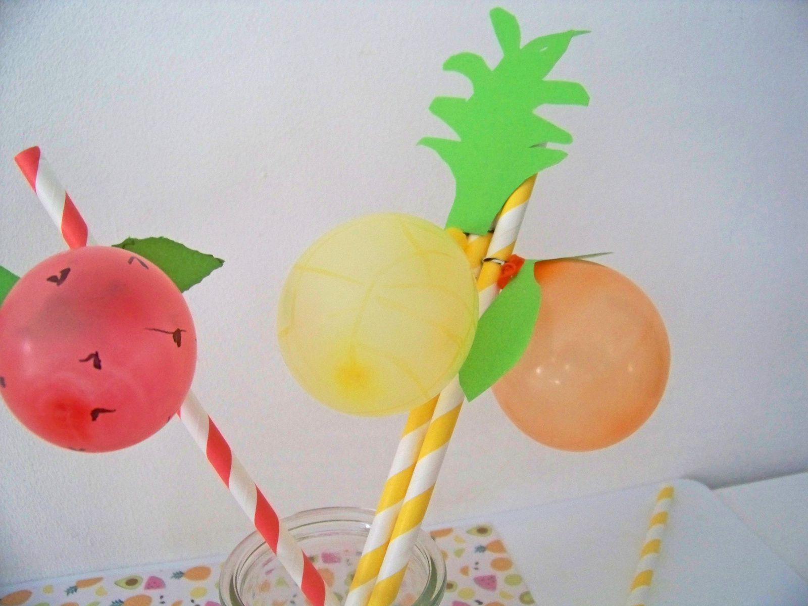 Tutti Frutti  , les pailles se mettent à l'heure d'été !!