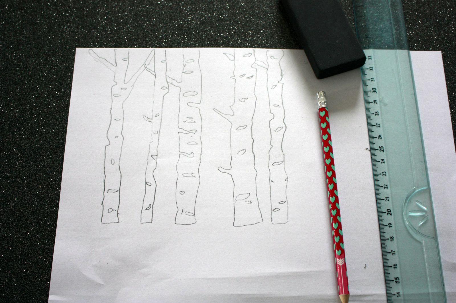 Le cadre en papier à message !