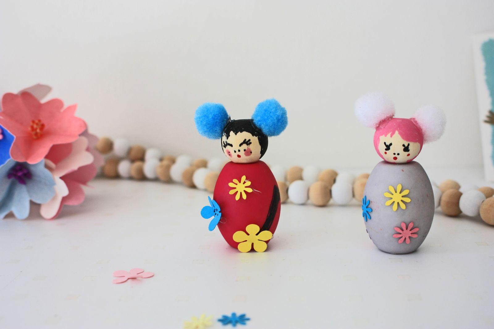 Inspiration japonaise et perles en bois !!