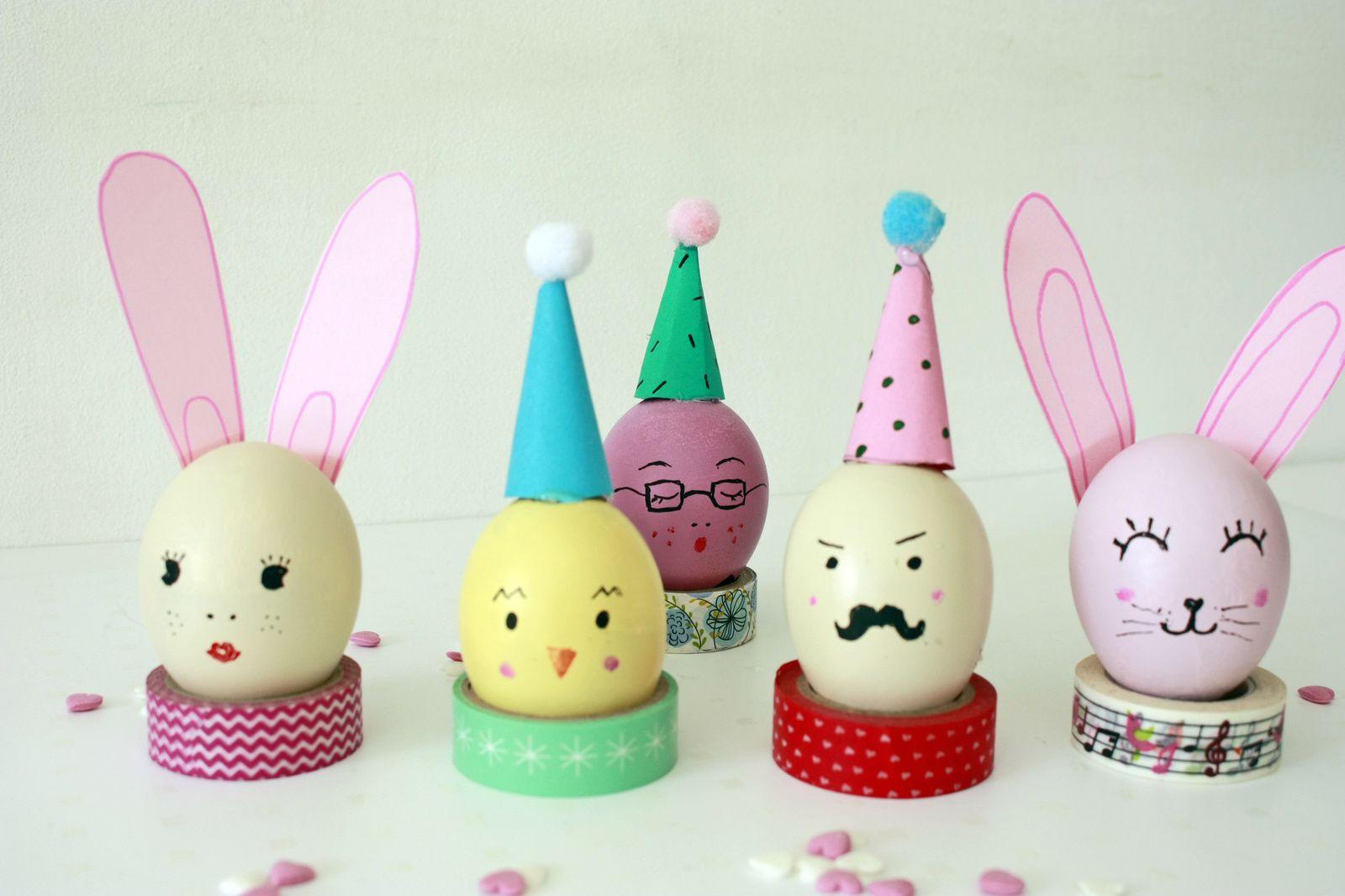 Les oeufs personnages de Pâques !