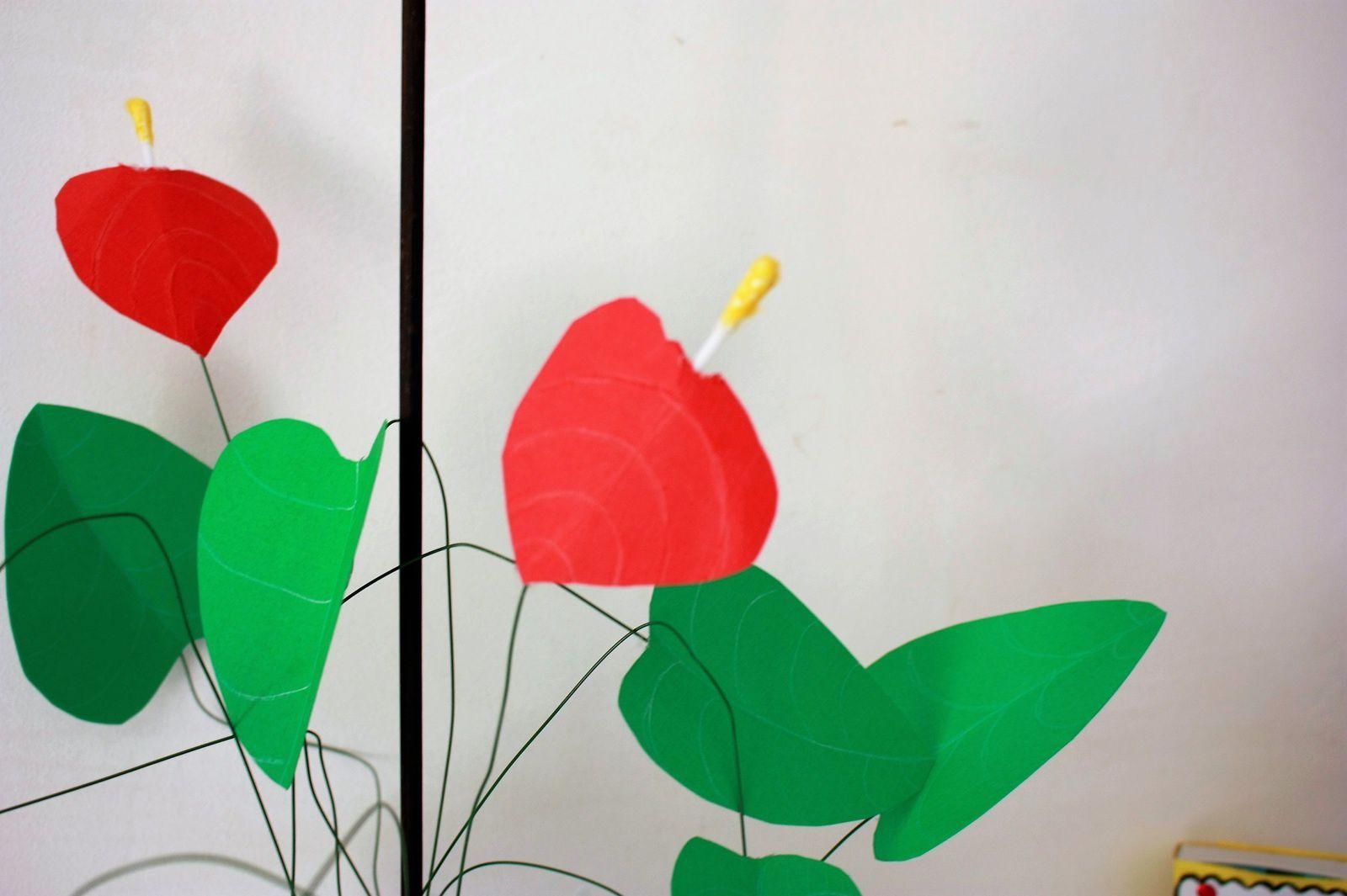 Inspiration végétale avec cet Anthrium en papier !