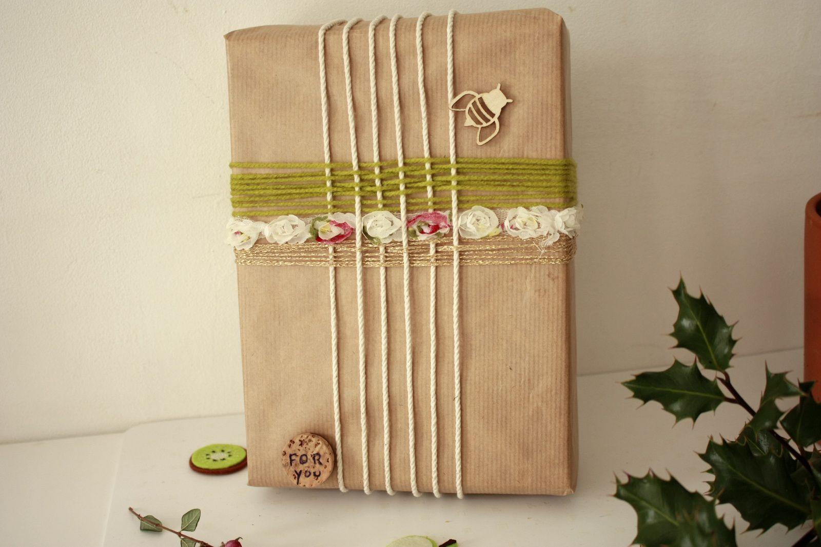 Inspiration tissage pour des paquets cadeaux esprit nature !!
